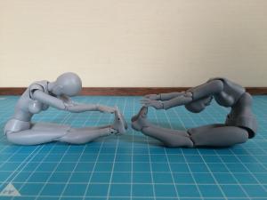 Bodyちゃん vs figma 前屈比較