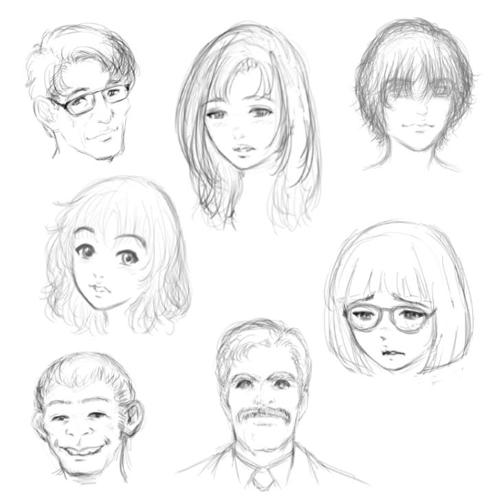 キャラクターラフデザイン・サンプル